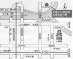 大阪分苑への地図